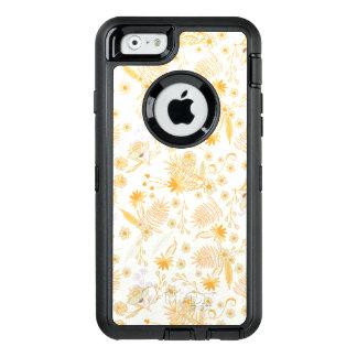 Gelbes Blumen-Muster OtterBox iPhone 6/6s Hülle