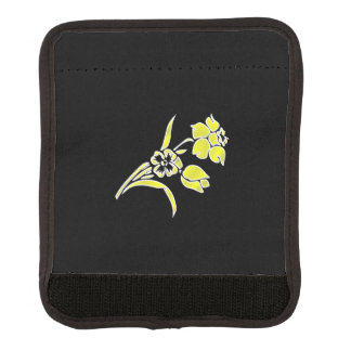 Gelbes Blumen-Schwarzes Gepäckgriff Marker