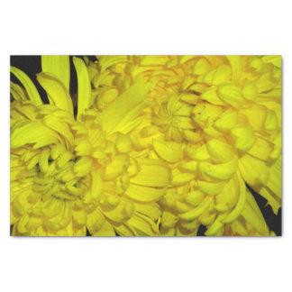 Gelbes Blumen-Seidenpapier Seidenpapier