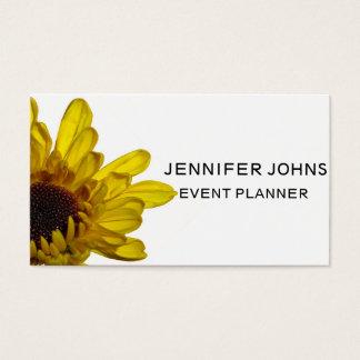 Gelbes Blumenmuster-Chrysantheme-Blumen-Weiß Visitenkarte