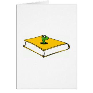 Gelbes Buch-Wurm Karte