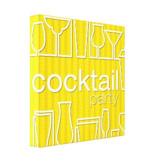 Gelbes Cocktail-Party Leinwand Drucke