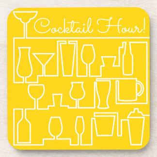 Gelbes Cocktail-Party Untersetzer