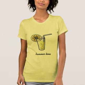 Gelbes Damen T-shirt mit kühlem Drink