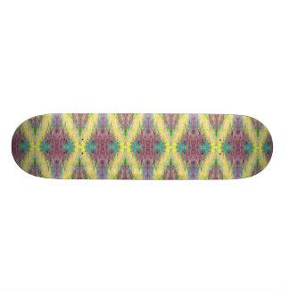 gelbes Diamantmuster-Skateboard Personalisierte Skateboarddecks