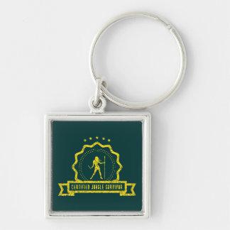 Gelbes Dschungel-Siegel Keychain Schlüsselanhänger