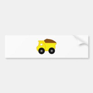 Gelbes DumpTruck Autoaufkleber