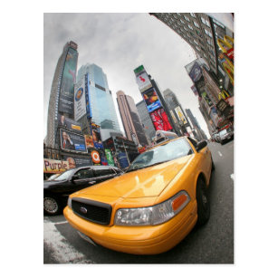 Gelbes Fahrerhaus New York City Postkarte