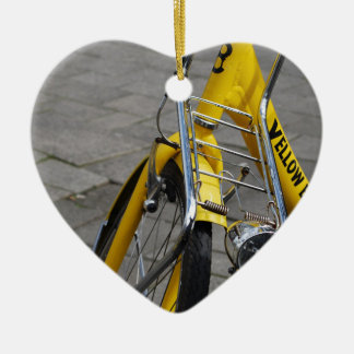 Gelbes Fahrrad Amsterdam Keramik Ornament