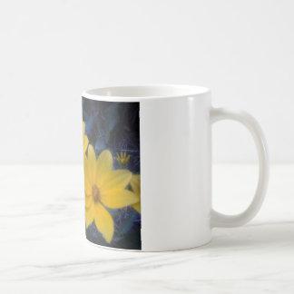 Gelbes Flowersf Kaffeetasse