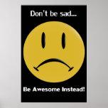 Gelbes Frowny Plakat
