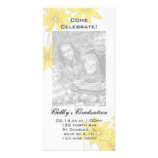 Gelbes Gänseblümchen-Abschluss-Party laden Karte