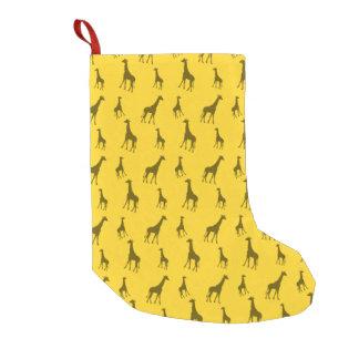 Gelbes Giraffenmuster Kleiner Weihnachtsstrumpf