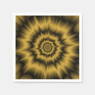 Gelbes Goldexplosions-Serviette Papierserviette