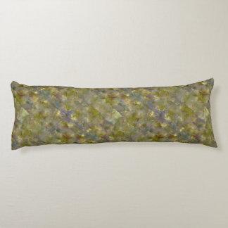 Gelbes Goldkubismus-Mosaik-Baumwollkörper-Kissen Seitenschläferkissen