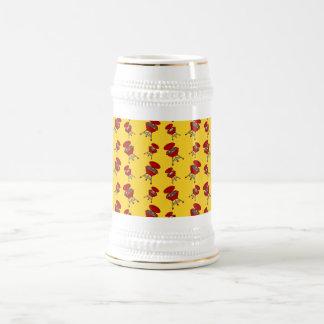 gelbes Grillmuster Kaffeetassen