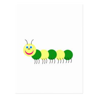 Gelbes Grün-Raupe Postkarte