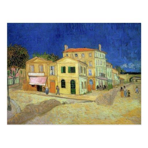 Gelbes Haus durch Van Gogh Postkarte