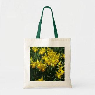 Gelbes heitre Frühlings-Blumen der Narzissen-I Tragetasche