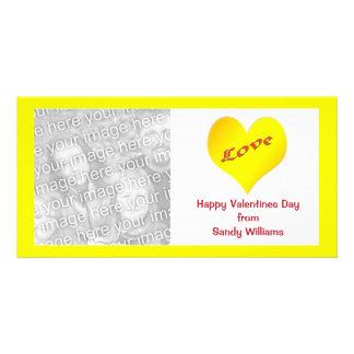 gelbes Herz Individuelle Photo Karten