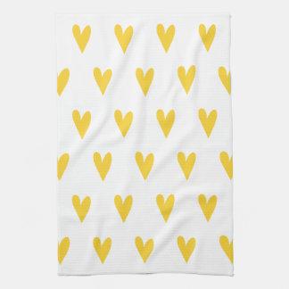 Gelbes Herz-Muster Küchentuch