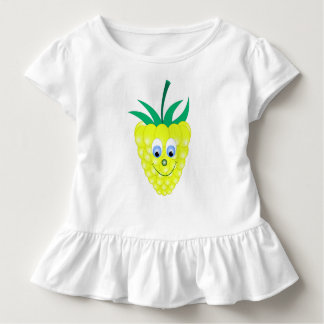 gelbes Himbeergesichtslächeln Kleinkind T-shirt
