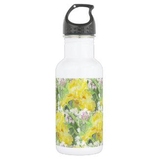 Gelbes hohes Schwertlilie-Aquarell Edelstahlflasche