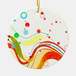 Gelbes Jazz-Plakat Keramik Ornament