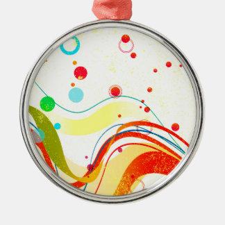 Gelbes Jazz-Plakat Silbernes Ornament