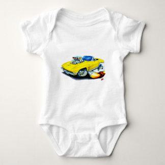 Gelbes Kabriolett 1963-64 Korvette Baby Strampler