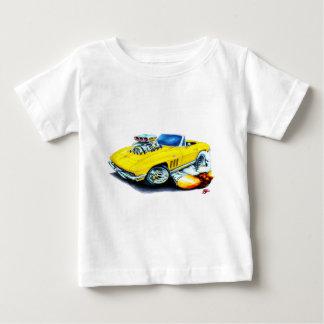 Gelbes Kabriolett 1965 Korvette Baby T-shirt