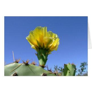 Gelbes Kaktus-Blume notecard der stacheligen Birne Karte