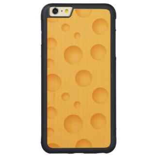 Gelbes Käse-Muster Carved® Maple iPhone 6 Plus Bumper Hülle