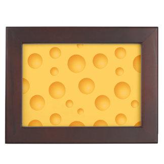 Gelbes Käse-Muster Erinnerungsdose