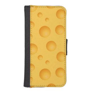 Gelbes Käse-Muster Geldbeutel Hülle Für Das iPhone SE/5/5s