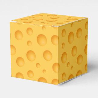 Gelbes Käse-Muster Geschenkschachtel