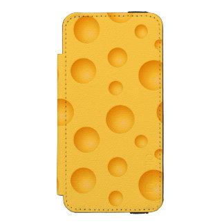 Gelbes Käse-Muster Incipio Watson™ iPhone 5 Geldbörsen Hülle