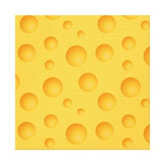 Gelbes Käse-Muster Leinwanddruck