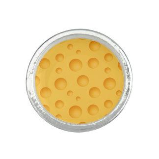 Gelbes Käse-Muster Ring