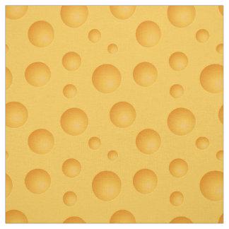 Gelbes Käse-Muster Stoff