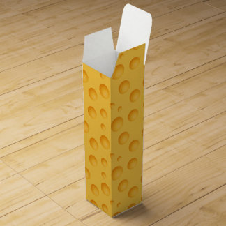 Gelbes Käse-Muster Wein-Geschenkverpackung