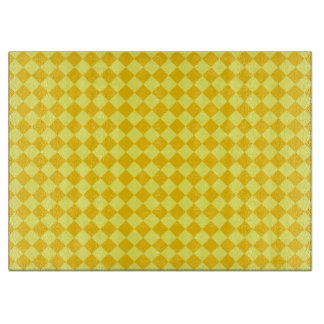 Gelbes Kombinations-Diamant-Muster durch STaylor Schneidebrett