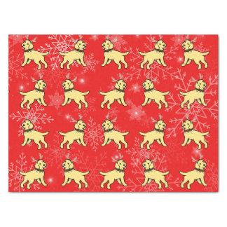 Gelbes Labrador-Geweih-Weihnachtsseidenpapier Seidenpapier