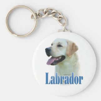 Gelbes Labrador retriever NamensKeychain