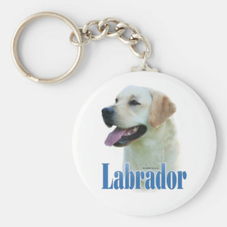 Gelbes Labrador retriever NamensKeychain Schlüsselband