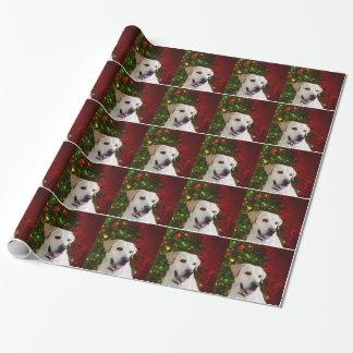 Gelbes labrador retriever-Weihnachten Geschenkpapier