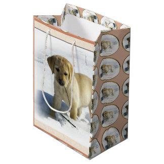 Gelbes Labrador retriever-Weihnachten Mittlere Geschenktüte