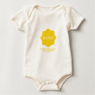 Gelbes Logo Baby Strampler