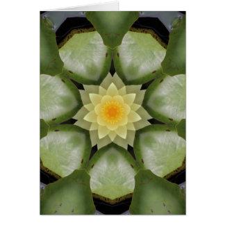 Gelbes Lotus-Kaleidoskop Karte