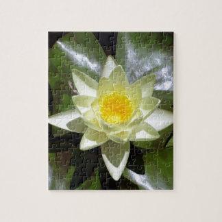 Gelbes Lotus und Lilienauflagen Puzzle